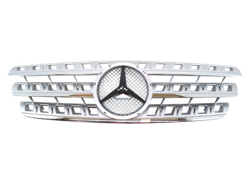 Хром/сива решетка за Mercedes M класа ML W163 1998-2005