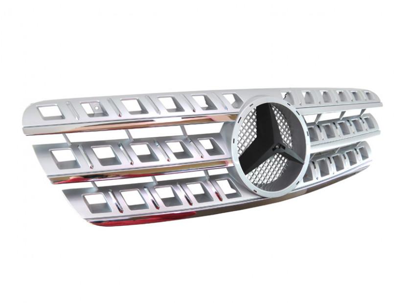 Хром/сива решетка за Mercedes M класа ML W163 1998-2005 2