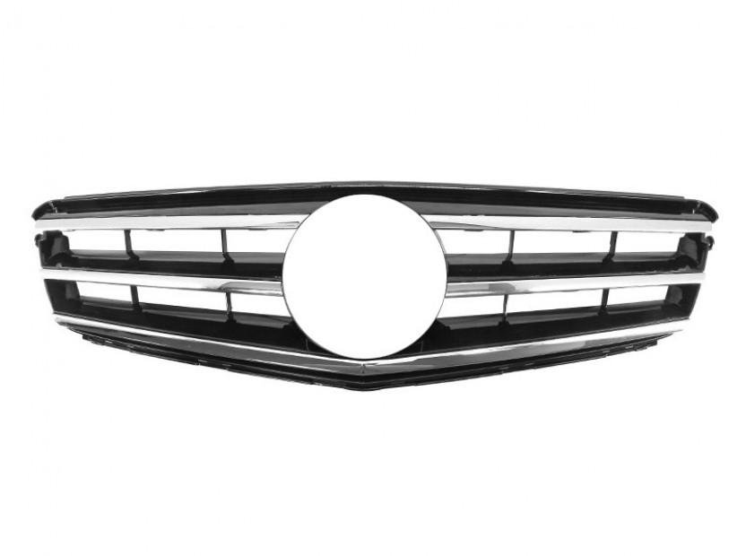 Хром/черна решетка тип Avantgarde за Mercedes C класа W204 2007-2014