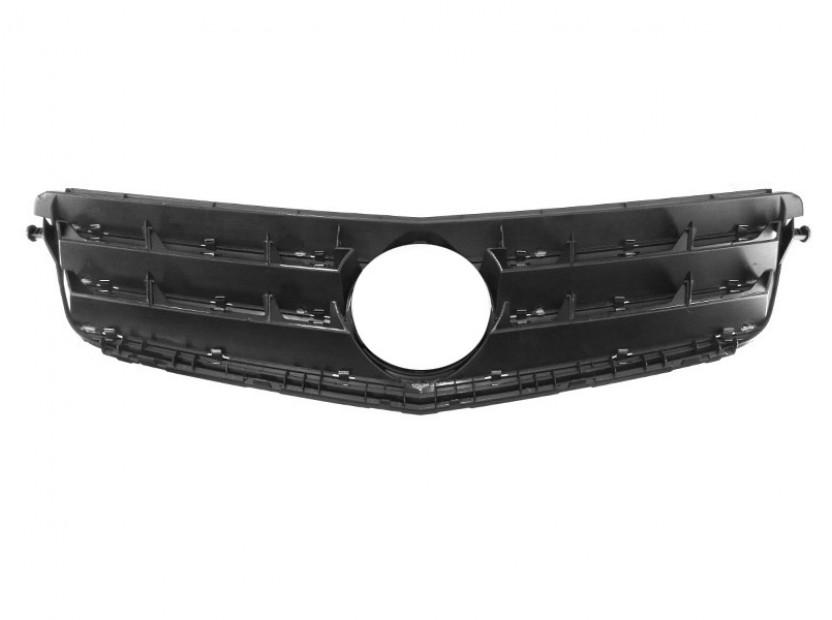 Хром/черна решетка тип Avantgarde за Mercedes C класа W204 2007-2014 3