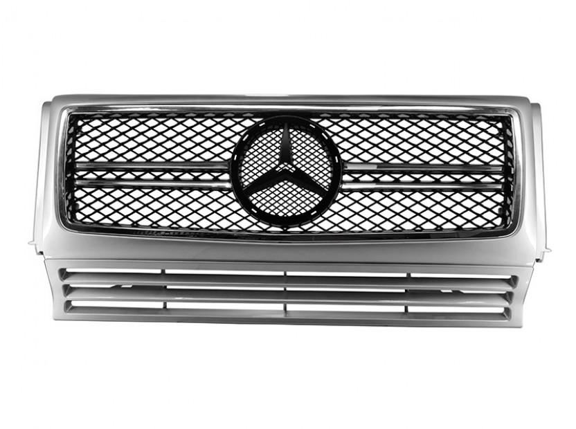 Хром/сива решетка тип AMG за Mercedes G класа W463 1989 =>