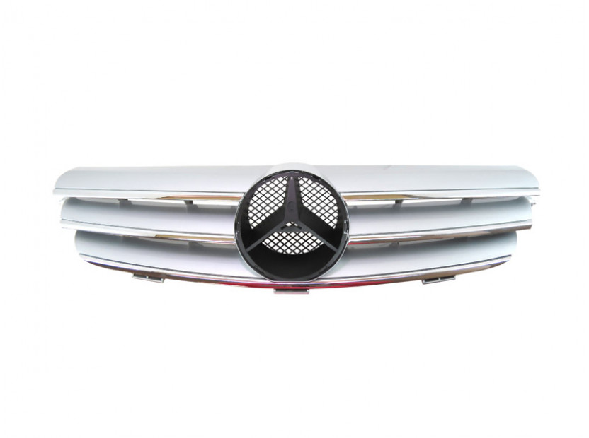 Хром/сива решетка за Mercedes CLK класа C209 2002-2009