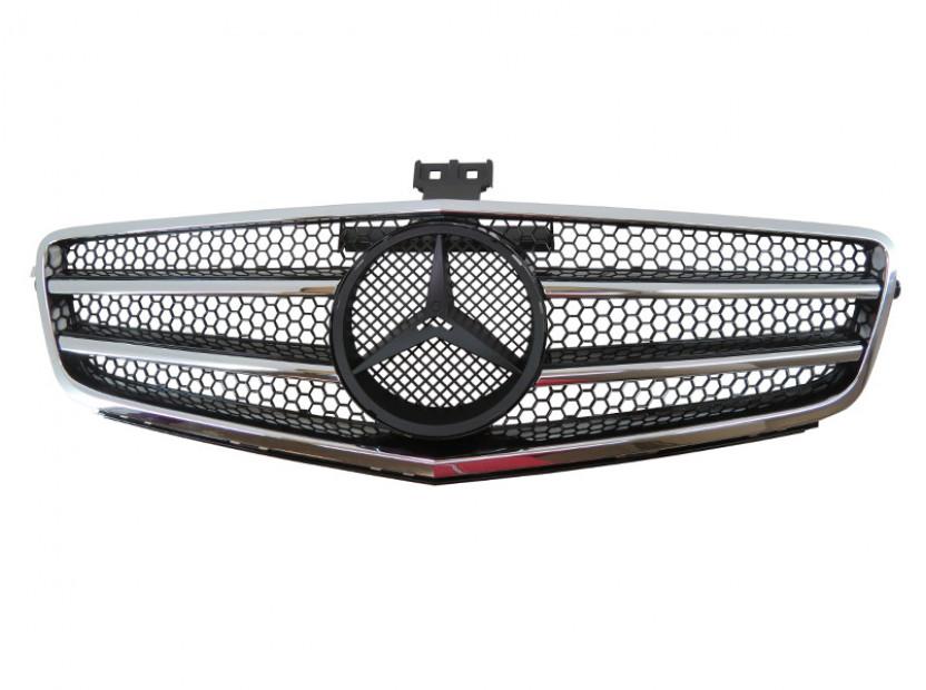 Хром/черна решетка тип AMG за Mercedes C класа W204 седан, комби, купе 2007-2014