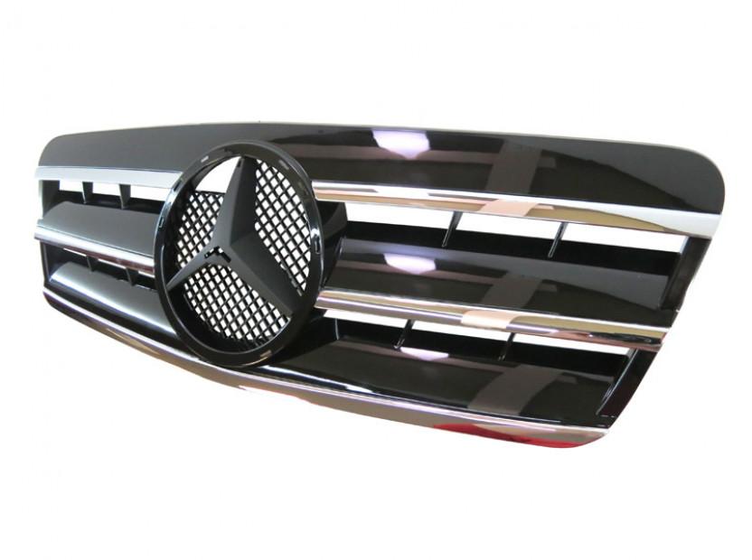 Хром/черна решетка за Mercedes CLK класа C208 1997-2002 2