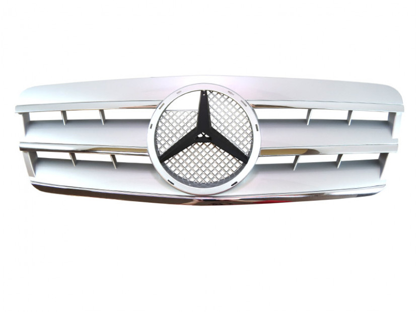 Хром/сива решетка за Mercedes CLK класа C208 1997-2002