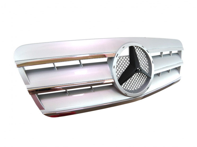 Хром/сива решетка за Mercedes CLK класа C208 1997-2002 2