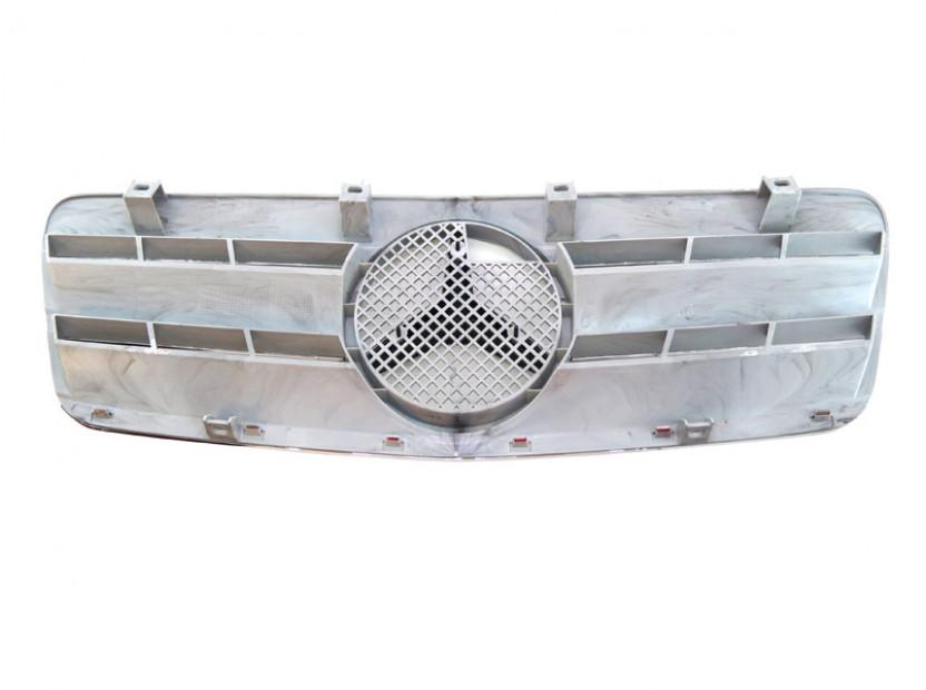 Хром/сива решетка за Mercedes CLK класа C208 1997-2002 3