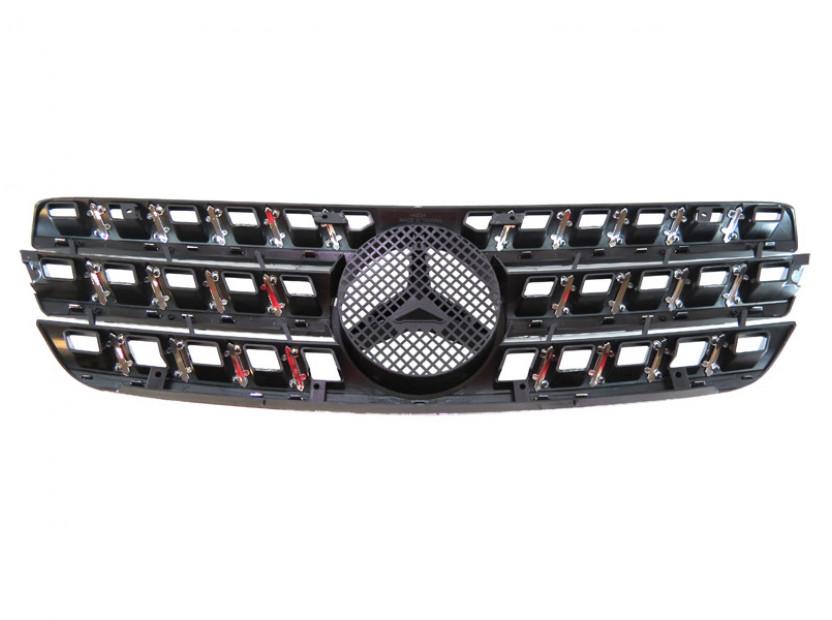 Хром/черна решетка за Mercedes M класа ML W163 1998-2005 3