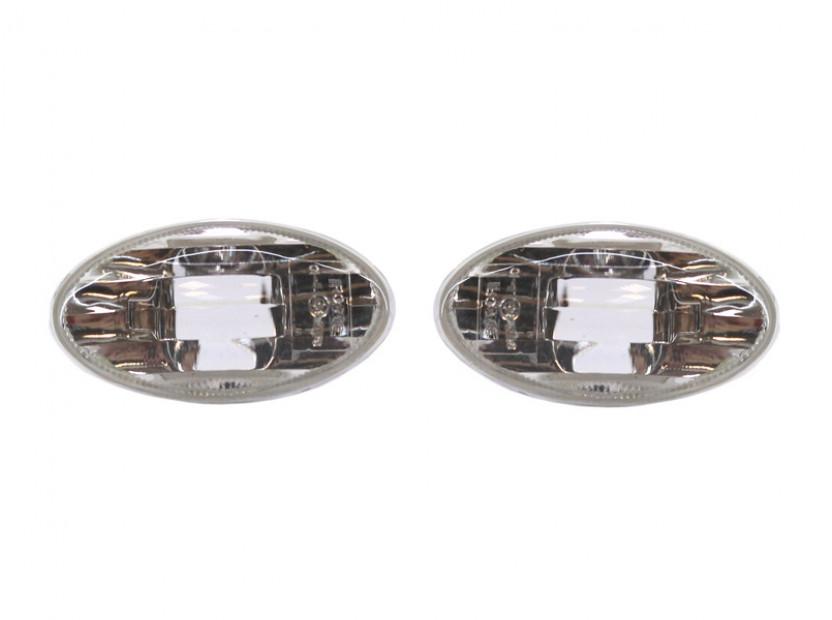 Странични мигачи за Mini 2001-2006 - хром основа 2