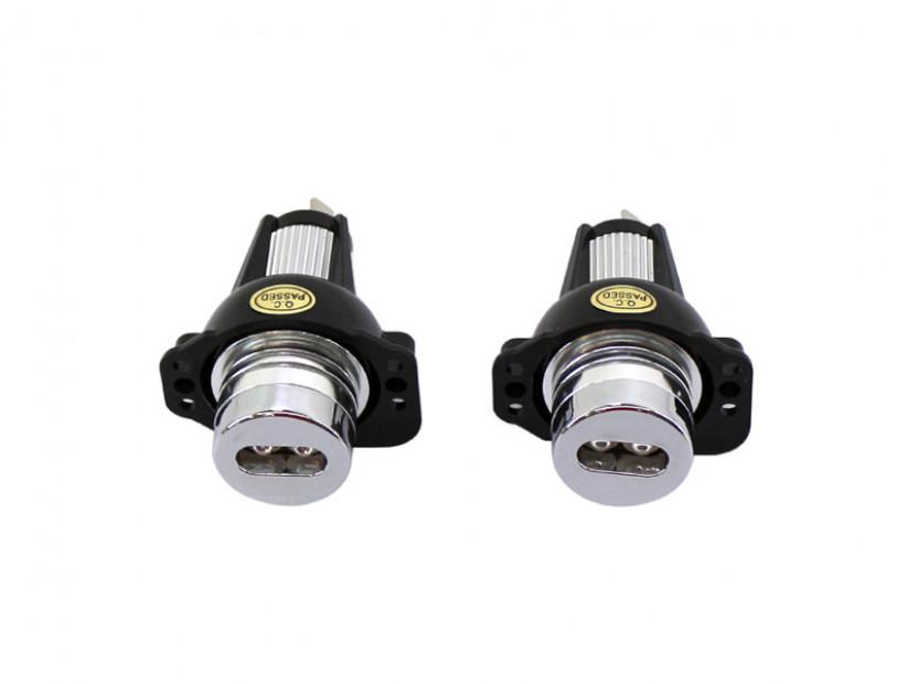Бели LED лампи autopro за фабрични ангелски очи за BMW серия 3 E90/E91 2005-2008 6W