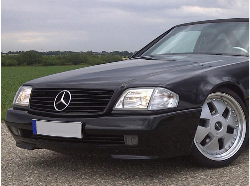 Тунинг мигачи към фара за Mercedes SL клас R129 1989=> с хром основа 5
