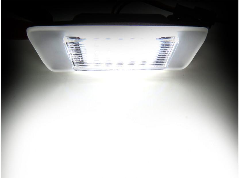 Комплект LED плафони за регистрационен номер за Opel Astra J комби след 2010 година, Zafira C след 2012 година, ляв и десен 4