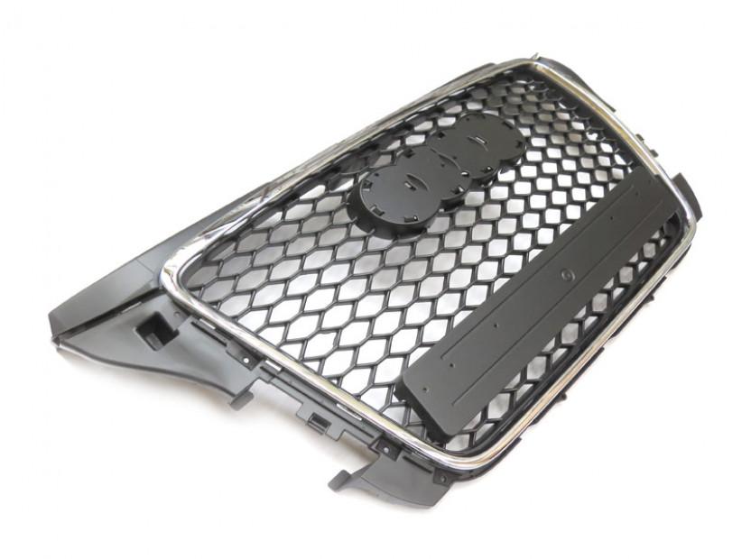 Хром/черна решетка тип RS за Audi A3 2009-2012 без отвори за парктроник 3
