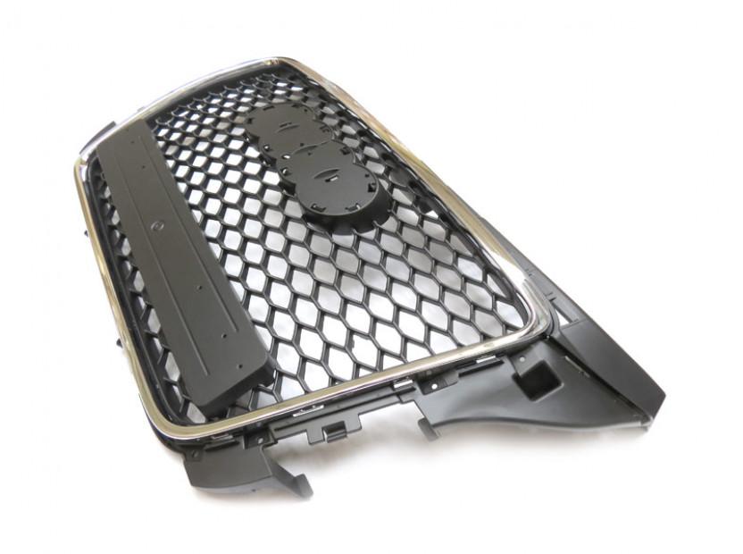 Хром/черна решетка тип RS за Audi A3 хечбек, Sportback, кабрио 2009-2012 без отвори за парктроник 4