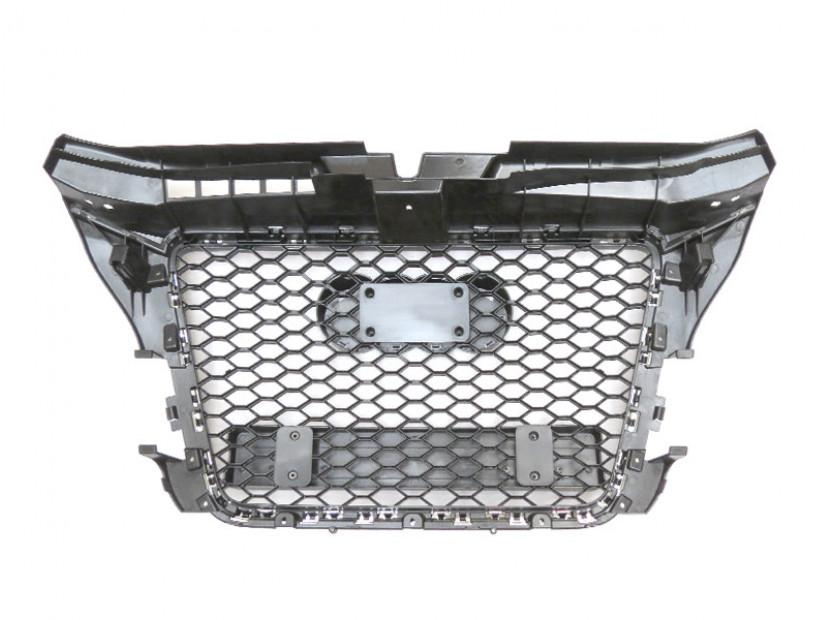 Хром/черна решетка тип RS за Audi A3 2009-2012 без отвори за парктроник 5