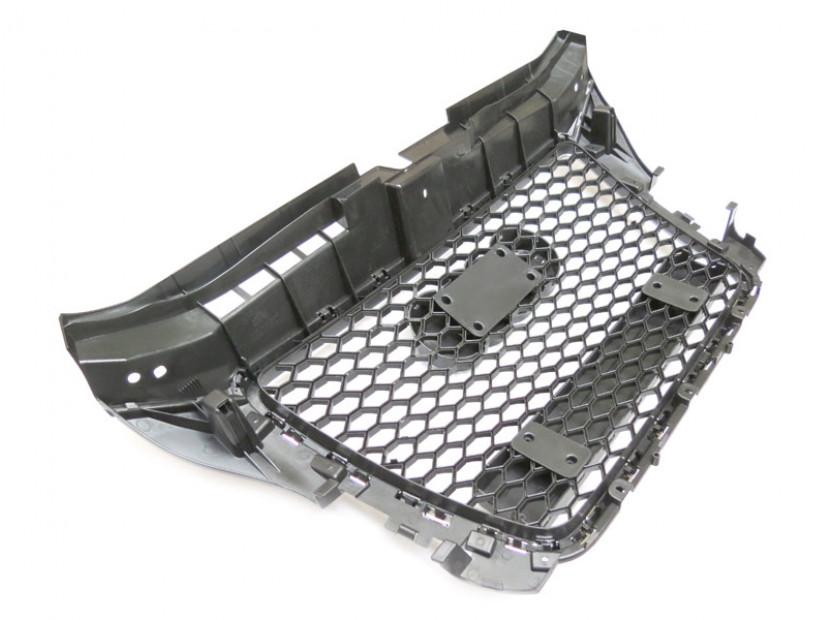 Хром/черна решетка тип RS за Audi A3 хечбек, Sportback, кабрио 2009-2012 без отвори за парктроник 6