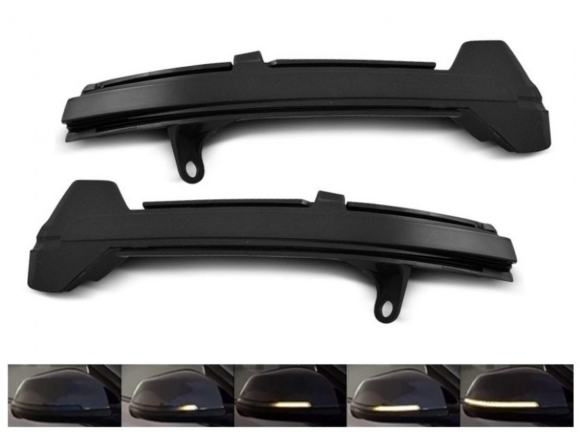 Тунинг LED мигачи за странични огледала на BMW серия 5 F10/F11 2013-2016, Серия 5 GT F07 2013-2016, Серия 6 F12/F13/F06 2014-2018, Серия 7 F01 2012-2015