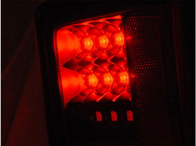 Комплект LED стопове за Jeep Wrangler JK 2007-2018, опушена основа, ляв и десен 4