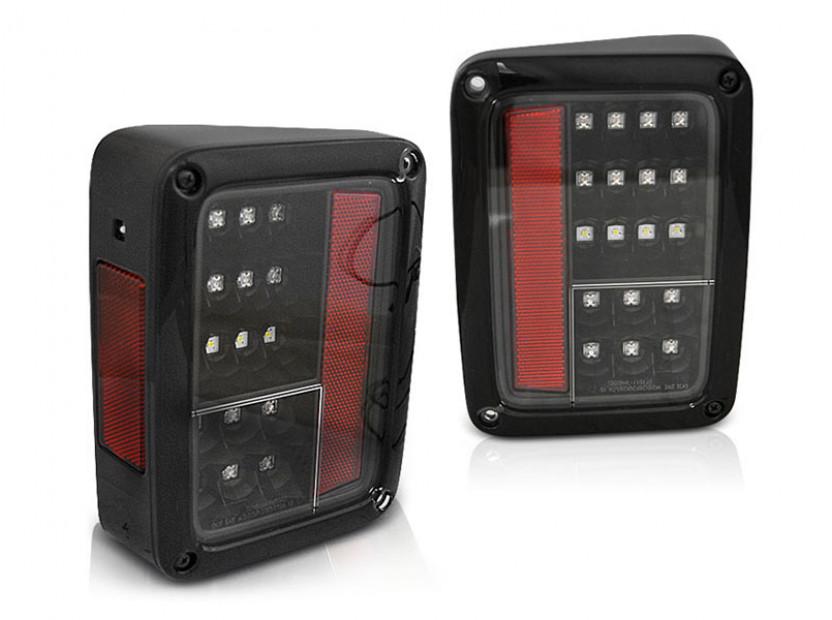 Комплект LED стопове за Jeep Wrangler JK 2007-2018, опушена основа, ляв и десен
