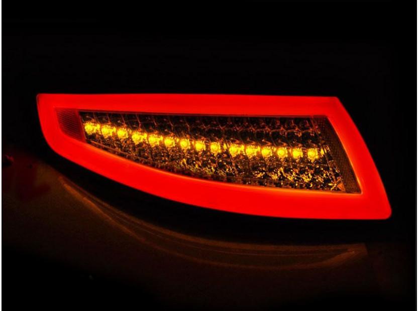Комплект LED стопове за Porsche 911 997 2004-2009, червено опушена основа, ляв и десен 3