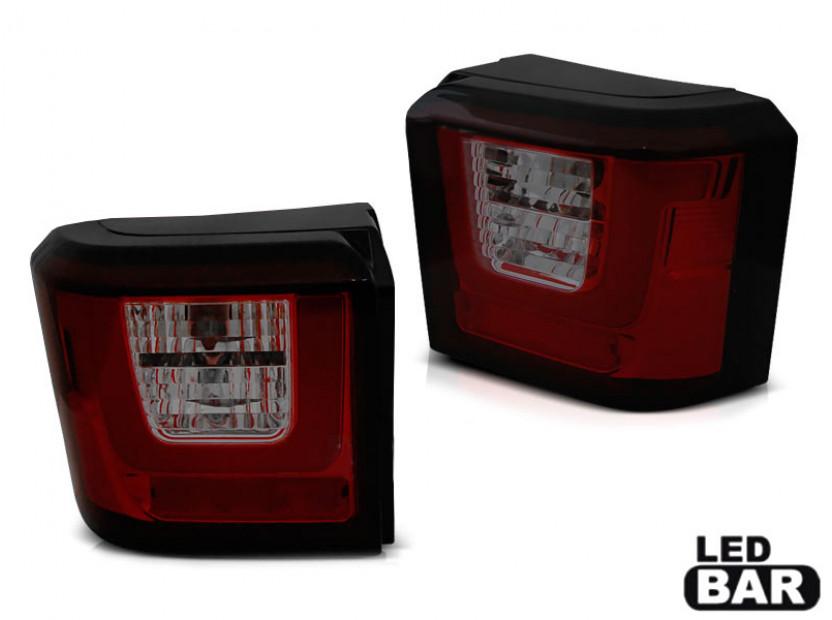 Комплект LED стопове за Volkswagen T4 1990-2003, червена и опушена основа, ляв и десен