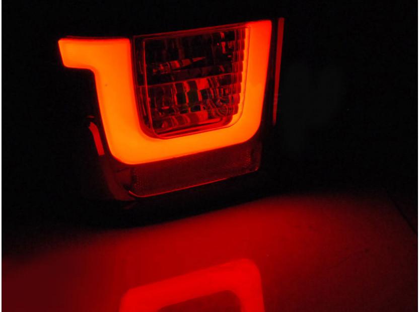 Комплект LED стопове за Volkswagen T4 1990-2003, червена и опушена основа, ляв и десен 3