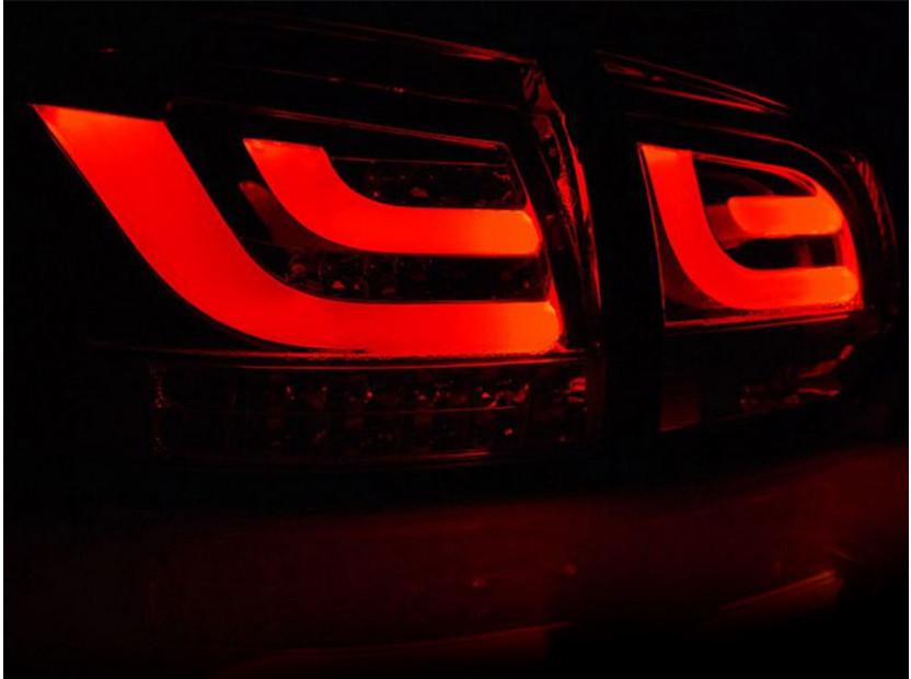 Комплект LED стопове за VW Golf 6 2008-2012, червено и бяла основа, ляв и десен 3