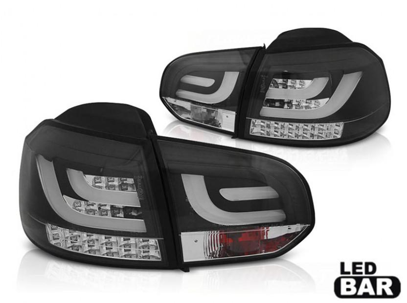 Комплект LED стопове за VW Golf 6 2008-2012, бяло опушена основа, ляв и десен