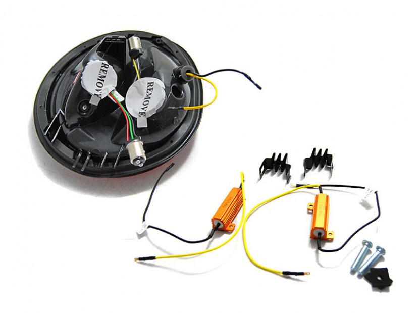 Комплект LED стопове за VW New Beetle хечбек, кабрио 1998-2005, червена и бяла основа, ляв и десен 2