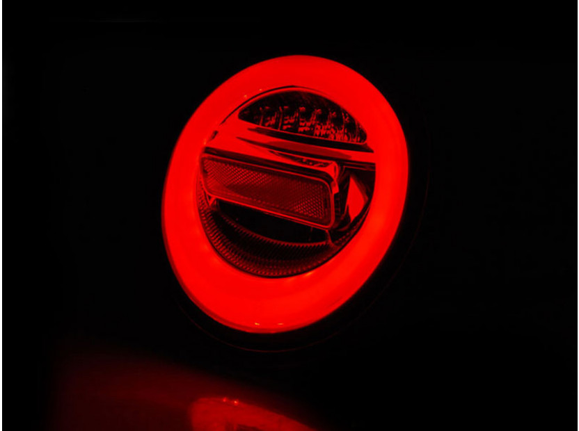 Комплект LED стопове за VW New Beetle хечбек, кабрио 1998-2005, червена и бяла основа, ляв и десен 3