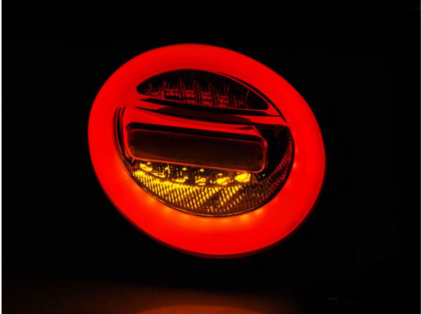 Комплект LED стопове за VW New Beetle хечбек, кабрио 1998-2005, червена и бяла основа, ляв и десен 4