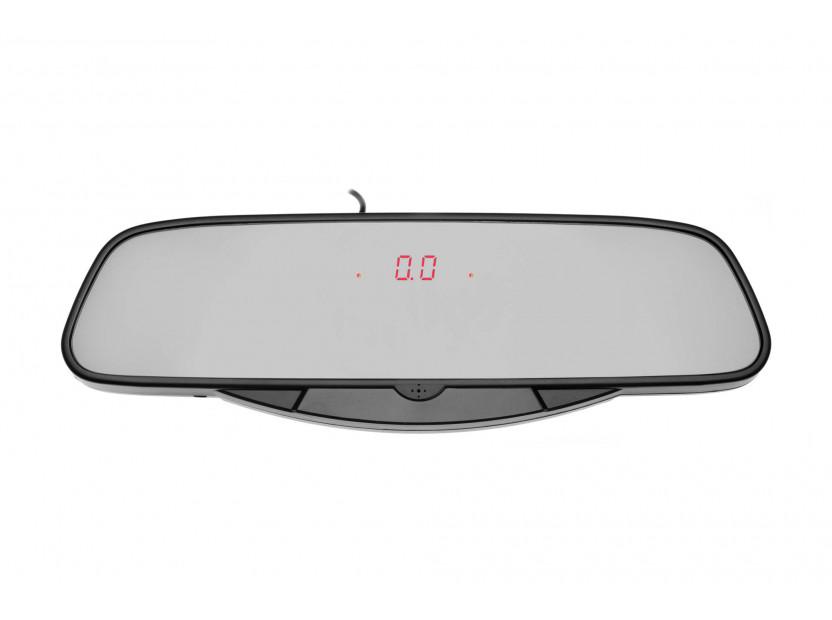 Парктроник система с LED дисплей тип огледало за обратно виждане с 6 черни датчика 6
