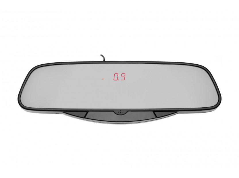 Парктроник система с LED дисплей тип огледало за обратно виждане с 6 черни датчика 5