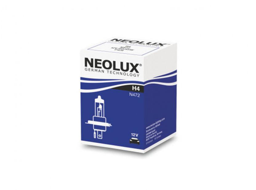 Халогенна крушка NeoLux H4 Standard 12V, 60/55W, P43t, 1 брой