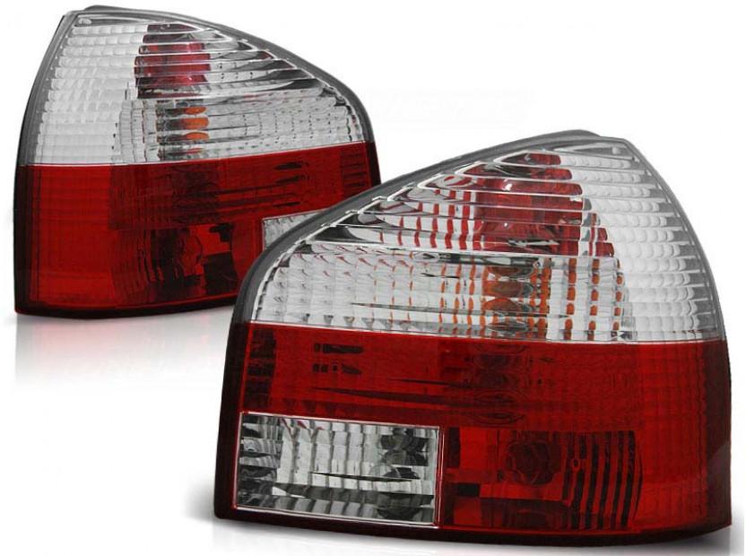 Комплект тунинг стопове за Audi A3 8L 08.1996-08.2000 3/5 врати, хечбек с червена и бяла основа , ляв и десен