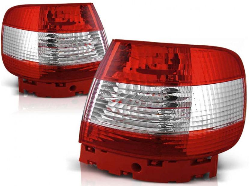 Комплект тунинг стопове за Audi A4 11.1994-09.2000 седан с червена и бяла основа , ляв и десен