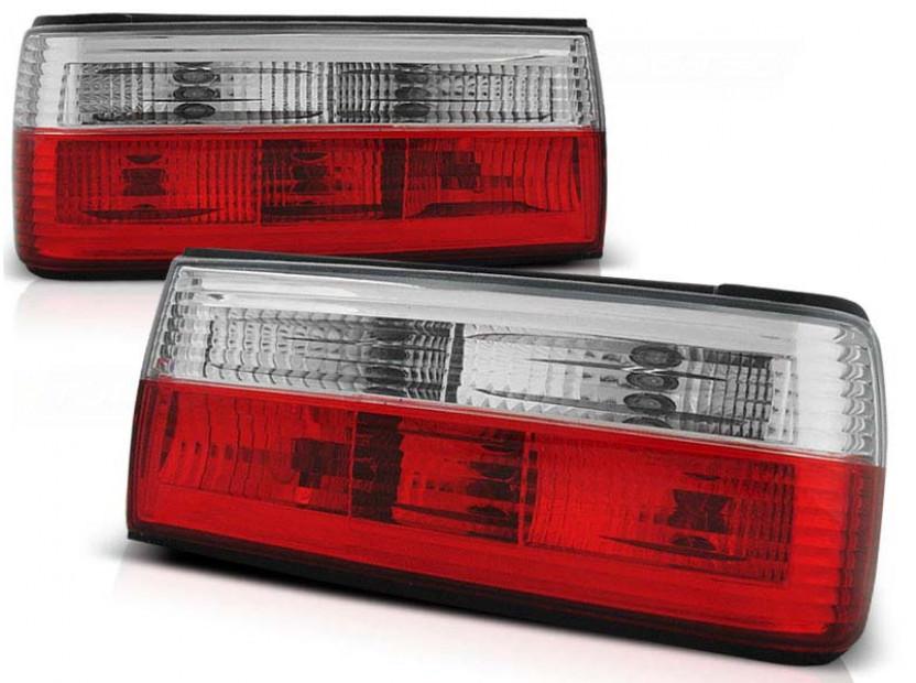 Комплект тунинг стопове за BMW E30 09.1987-10.1990 седан, купе, кабрио с червена и бяла основа , ляв и десен