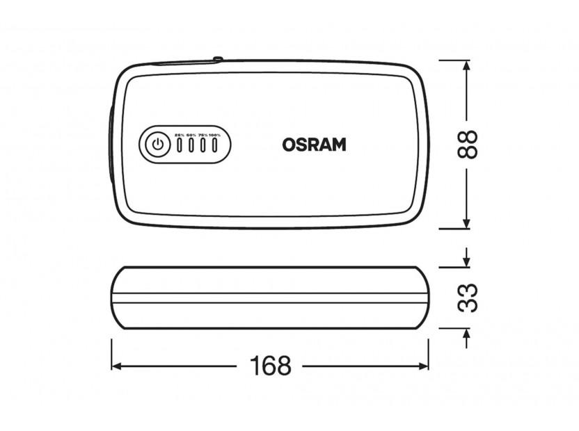 Външна батерия Osram Batterystart 300 за стартиране на двигателя, 13000mAh, 12V, 300-1500A 9