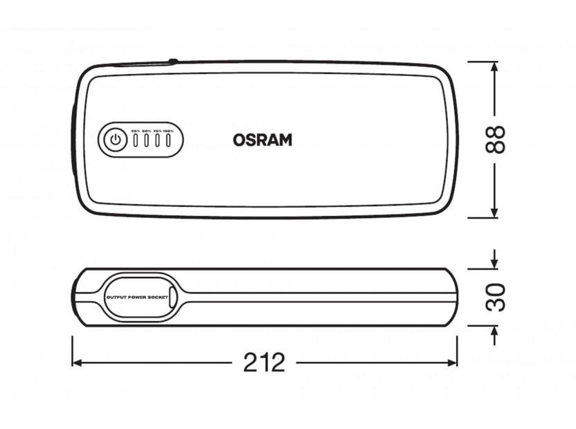 Външна батерия Osram Batterystart 400 за стартиране на двигателя, 16800mAh, 12V, 400-2000A 9