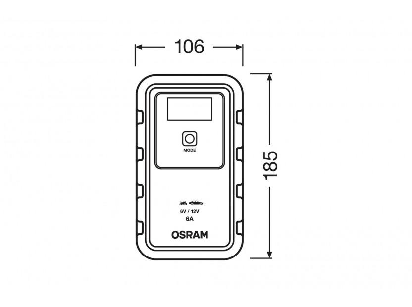 Smart зарядно Osram модел 906, 6/12V, 3/6A за акумулатори до 110Ah 6