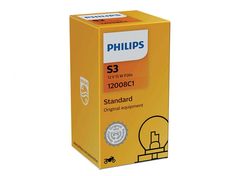 Халогенна крушка Phlips S3 Vision Moto 12V, 15W, P26.4t, 1 брой