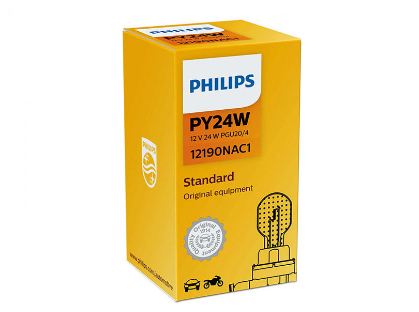 Халогенна крушка Philips PY24W, Standard 12V, 24W, PGU20/4, 1 брой