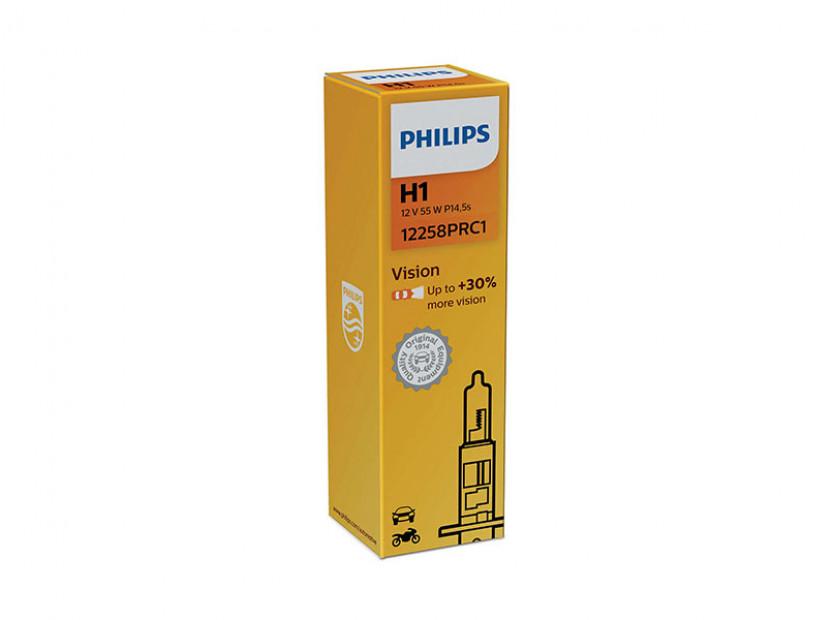 Халогенна крушка Philips H1 Vision 12V, 55W, P14.5S, 1 брой