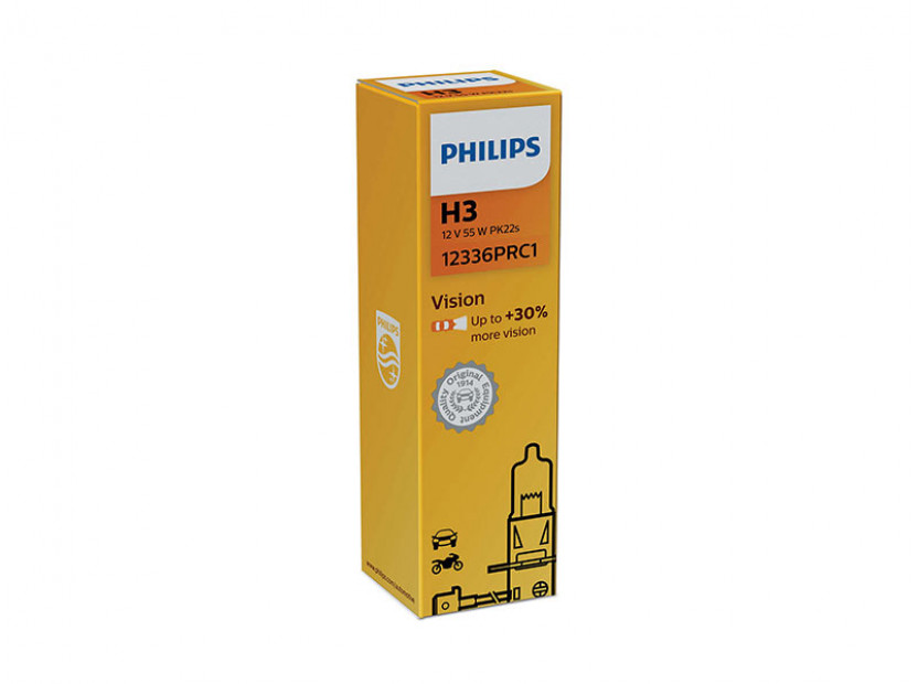 Халогенна крушка Philips H3 Vision 12V, 55W, PK22S, 1 брой