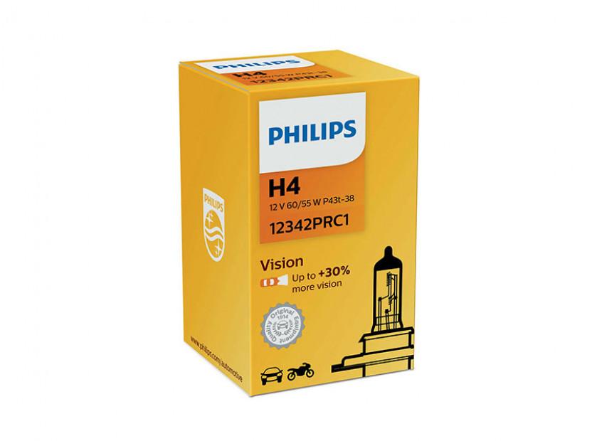Халогенна крушка Philips H4 Vision 12V, 60/55W, P43T-38, 1 брой