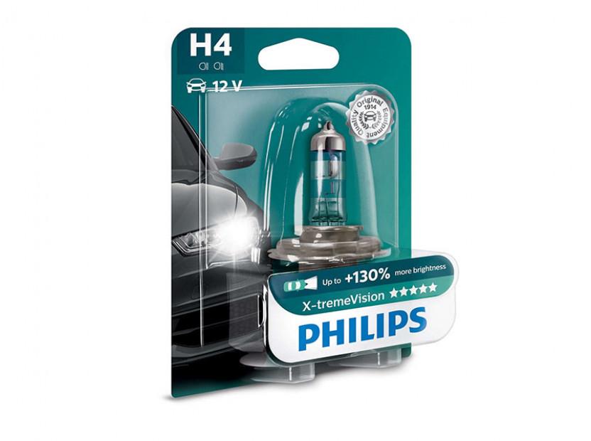 Халогенна крушка Philips H4 X-Treme Vision12V, 60/55W, P43T-38, 1 брой