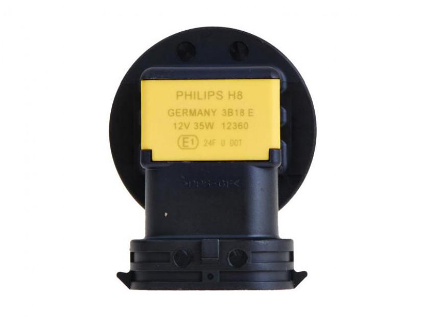 Халогенна крушка Philips H8 Standard 12V, 35W, PGJ19-1, 1 брой 3
