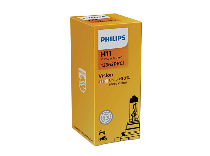 Халогенна крушка Philips H11 Vision 12V, 55W, PGJ19-2, 1 брой