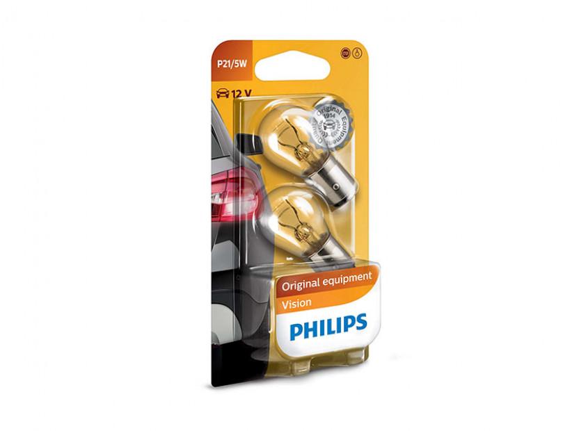 Халогенна крушка Philips P21/5W Standard 12V, 21/5W, BAY15D, 1 брой