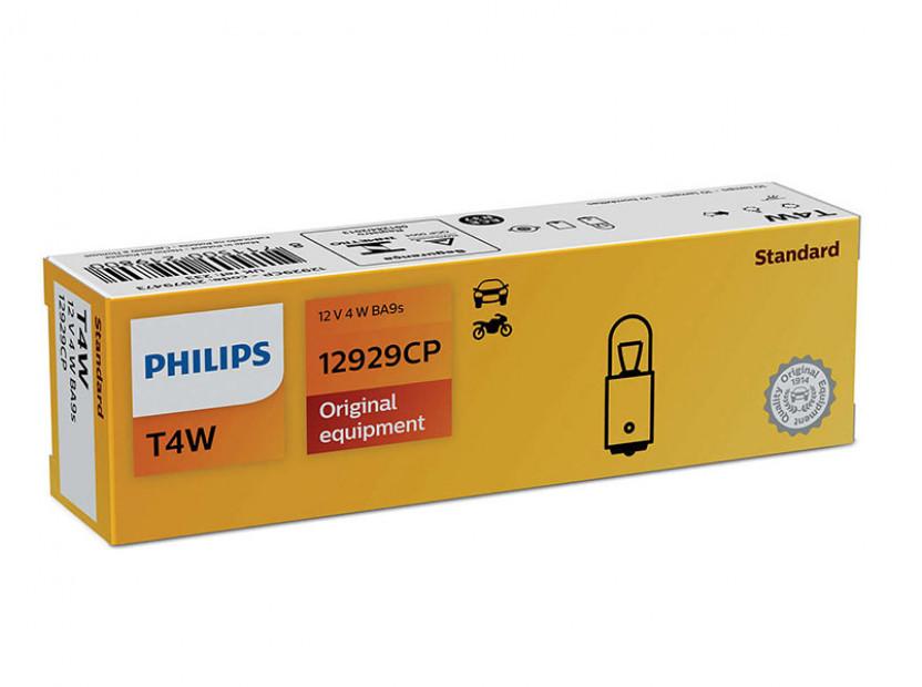 Халогенна крушка Philips T4W Standard 12V, 4W, BA9S, 1 брой